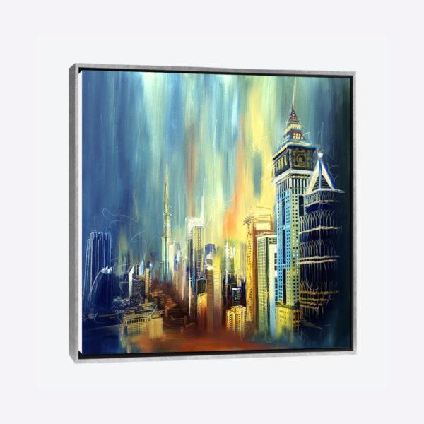 لوحات جدارية - خطوط السماء المضيئة والامطار في دبي - لوحات جدارية - كانفسي - لوحة فنية جدارية مدن عالمية بالألوان الجذابة التي تعطي طاقة حيوية وتفاؤل تتناسب مع جميع أثاثكم شاهد المزيد في متجر كانفسي