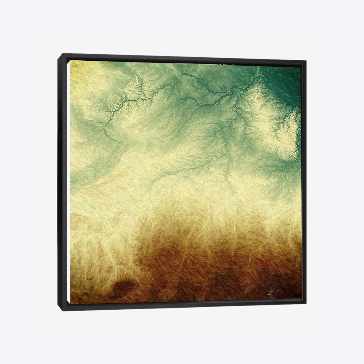 لوحات جدارية - قصاصات حقول - لوحات جدارية - لوحات فنية مميزة - لوحة حائط مفعمة بجمال تناثر الألوان المائية على كانفس مشدود عالي الجودة تعطي شعور السلام والفن الراقي مع بصمة الذوق الرفيع الذي يتناسب مع جميع أثاثكم