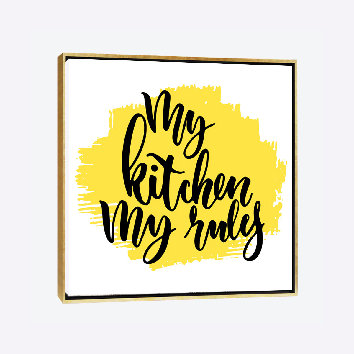 """لوحات جدارية - لوحة لجملة """" مطبخي وقواعدي"""" باللون الأصفر - لوحة فنية جدارية لجملة مطبخي وقواعدي , الصورة مصممة باللون الاصفر الذي يتناسب مع المطابخ الانيقة"""