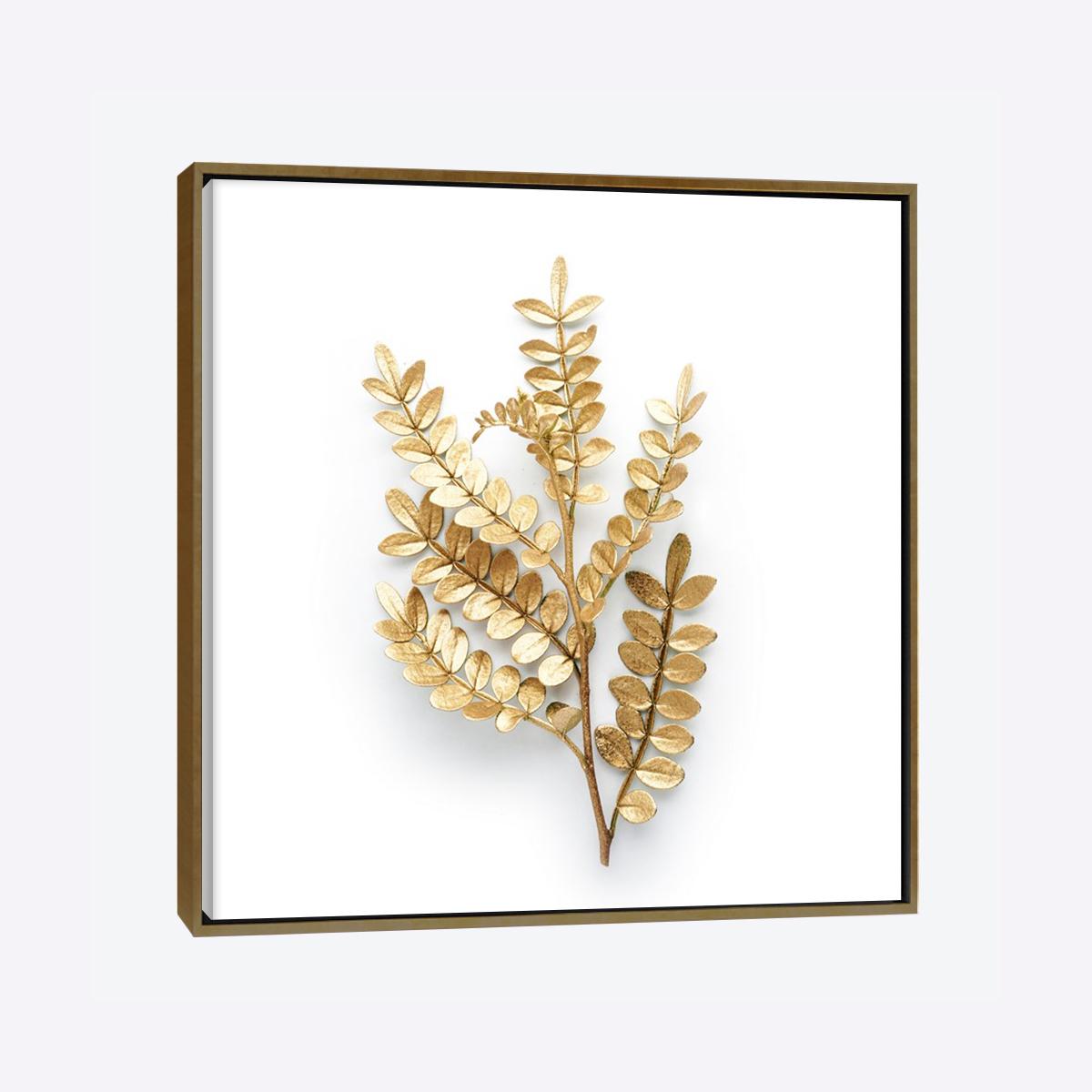 لوحات جدارية - غصن من الأوراق باللون الذهبي - لوحات جدارية - لوحات فنية مميزة - لوحة حائط مفعمة بألوان الأزهار والروح الطبيعية التي تبعثها لوحات الأزهار الفنية حيث تعطي سلام وذوق رفيع يتناسب مع جميع أثاثكم