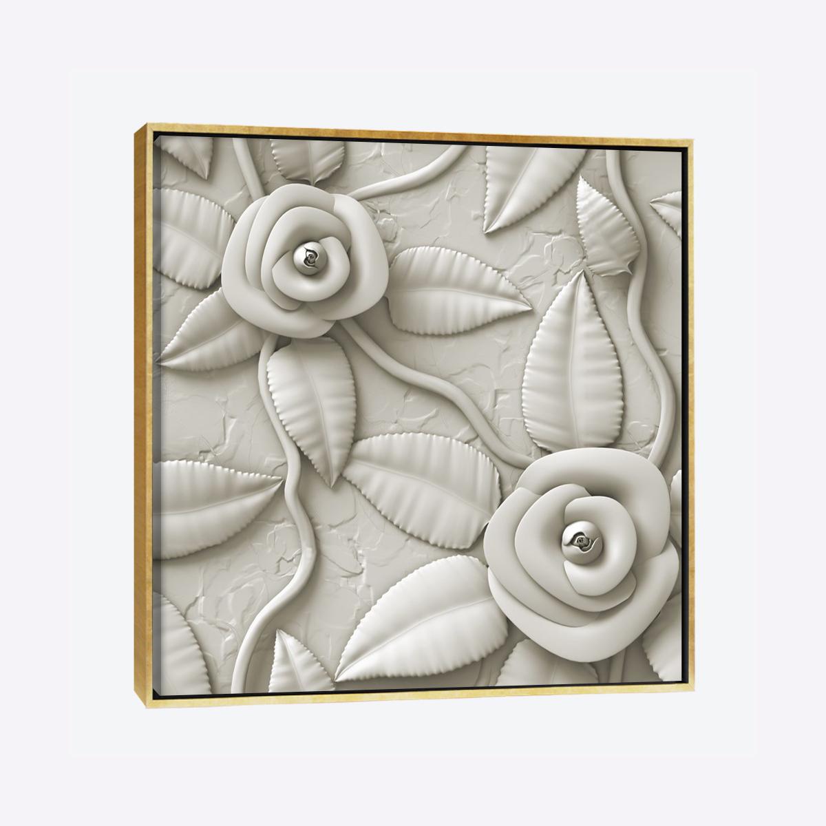 لوحات جدارية - ورود جوري باللون الرمادي محفورة بالبورسلان - لوحات جدارية - لوحات فنية مميزة - لوحة حائط مفعمة بألوان الأزهار والروح الطبيعية التي تبعثها لوحات الأزهار الفنية حيث تعطي سلام وذوق رفيع يتناسب مع جميع أثاثكم