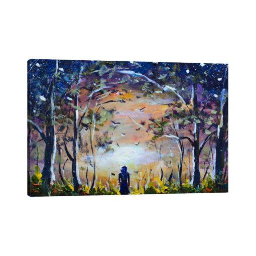 لوحات جدارية - مشهد طبيعي في الليل - لوحات جدارية - كانفسي - لوحة فنية جدارية لوحات طبيعة بالألوان الجذابة التي تعطي طاقة حيوية وتفاؤل تتناسب مع جميع أثاثكم شاهد المزيد في متجر كانفسي