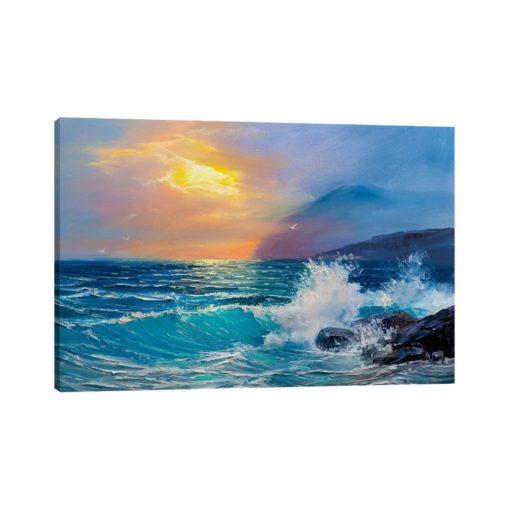 لوحات جدارية - امتزاج غروب الشمس مع أمواج البحر - لوحات جدارية - كانفسي - لوحة فنية جدارية لوحات طبيعة بالألوان الجذابة التي تعطي طاقة حيوية وتفاؤل تتناسب مع جميع أثاثكم شاهد المزيد في متجر كانفسي