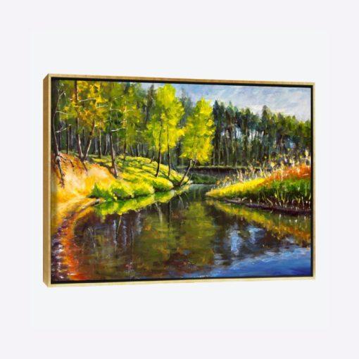 لوحات جدارية - مشهد الغابة في فصل الربيع - لوحات جدارية - كانفسي - لوحة فنية جدارية لوحات طبيعة بالألوان الجذابة التي تعطي طاقة حيوية وتفاؤل تتناسب مع جميع أثاثكم شاهد المزيد في متجر كانفسي