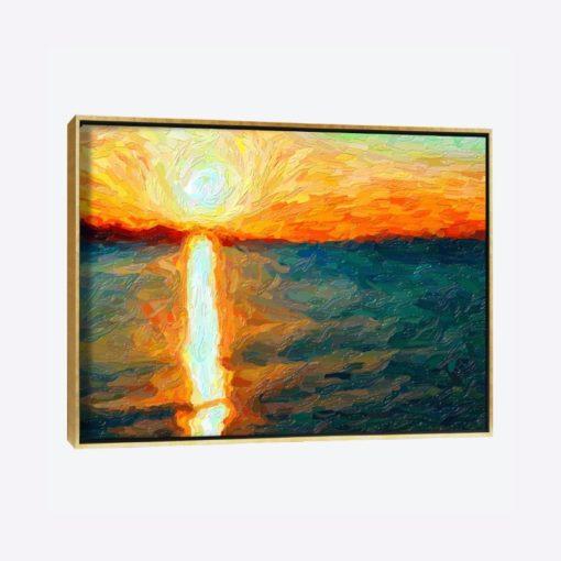 لوحات جدارية - تداخل غروب الشمس مع البحر - لوحات جدارية - كانفسي - لوحة فنية جدارية لوحات طبيعة بالألوان الجذابة التي تعطي طاقة حيوية وتفاؤل تتناسب مع جميع أثاثكم شاهد المزيد في متجر كانفسي