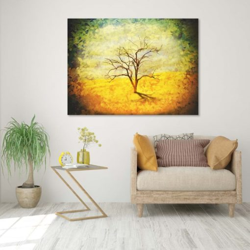 لوحات جدارية - شجرة خريفية في وسط الخضار - لوحات جدارية - كانفسي - لوحة فنية جدارية لوحات طبيعة بالألوان الجذابة التي تعطي طاقة حيوية وتفاؤل تتناسب مع جميع أثاثكم شاهد المزيد في متجر كانفسي