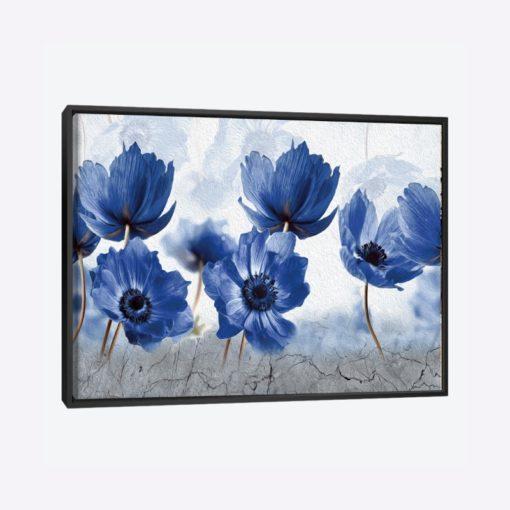 لوحات جدارية - الزهور الشتوية الزرقاء - لوحات جدارية - لوحات فنية مميزة - لوحة حائط مفعمة بألوان الأزهار والروح الطبيعية التي تبعثها لوحات الأزهار الفنية حيث تعطي سلام وذوق رفيع يتناسب مع جميع أثاثكم